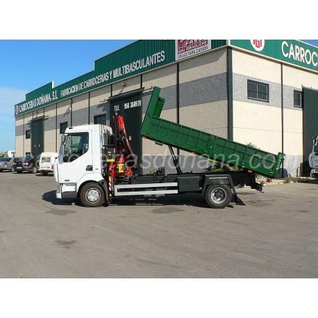Camion Volquete Renault con Grua Fassi